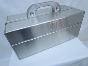 送料全国一律500円 訳あり 未使用品 INOUE SKS370 シルバー 日本製 2段両開き ツールケース 工具箱 道具箱 携行型 H15967