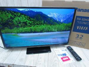 送料全国一律500円/美品!!2021年製 Panasonic パナソニック VIERA TH-32H300 液晶テレビ 32型 外付けHDD対応 LEDバックライト/NT0001