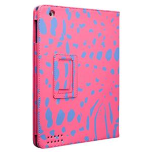 即決・送料込)【スタンド機能付きブックタイプケース】Case-Mate iPad 4/3/2 対応 Printed Coated Canvas Slim Stand Case Pink/Ocelot