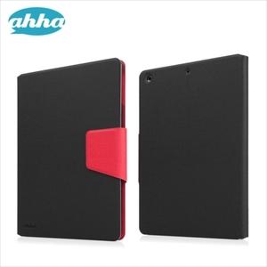 即決・送料込) ahha iPad Air Smart Flip Case スタンド機能つき ブックタイプ フォルダー ケース ブラック/レッド