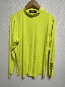 中古品 le coq sportif Golf Collection ルコック ゴルフコレクション 長袖アンダーシャツ インナーシャツ 黄色 サイズL☆S9☆56☆