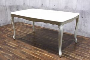 AJK52 Laura Ashley ローラアシュレイ PROVENCALE プロバンセル ダイニングテーブル 17.8万 W160cm 猫脚 英国 食卓テーブル プロヴァンセル