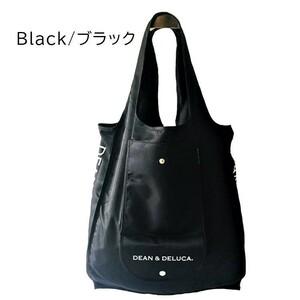 新品★DEAN&DELUCA エコ ショッピングバック ブラック 黒 ディーン&デルーカ バッグ