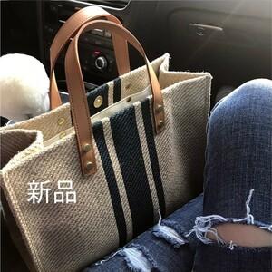 トートバッグ キャンパスバッグ 通勤 レディースバッグ 人気バッグ キャンバスバッグ  / ブルー