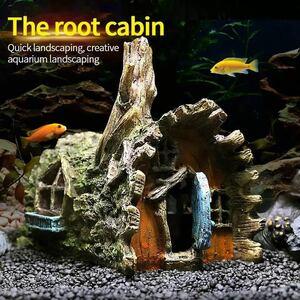水槽 アクアリウム インテリア 水槽装飾 家 オブジェ オーナメント 熱帯魚 金魚 水生生物 水槽のアクセサリー 置物 *69h*