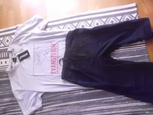 アスカ 新世紀エヴァンゲリオン エヴァ EVANGELION 半袖Tシャツ&6分丈パンツM 上下セット ルームウエア パジャマ
