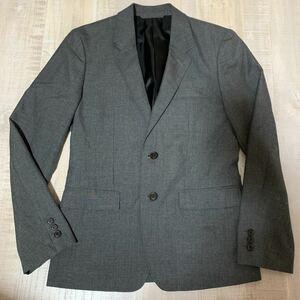 【日本製 美品】VICTIM テーラード ジャケット グレー サイズL ビクティム メンズ スーツ セットアップ