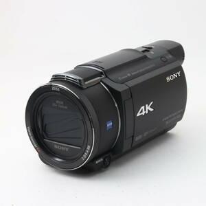 ★美品★ソニー ビデオカメラ FDR-AX55 4K 64GB 光学20倍 ブラック Handycam FDR-AX55 BC se10-52