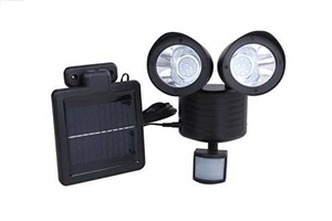 LED 22灯 搭載 人感センサーライト 850lm 太陽光 ソーラー パネル 防犯 玄関灯 ブラック 8YK4ZPJP