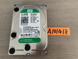 送料無料 Western Digital WD30EZRX Green 3TB 3.5インチ SATA HDD3TB 使用時間30015H★A101418