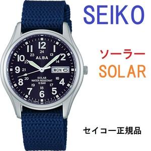 送料無料★特価 新品 SEIKO正規保証付★セイコーアルバ ソーラー 腕時計 AEFD556 メンズ レディース ミリタリーウォッチ ナイロンベルト