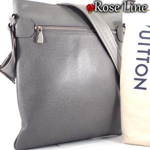 【美品】ルイヴィトン Louis Vuitton タイガ サシャ ショルダーバッグ グラシエ グレー 灰色 鞄 斜め掛け TAIGA BAG バック M32630