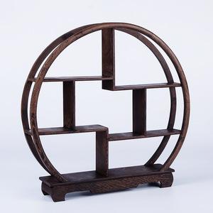 中国茶 器棚 木製ラック 小物置き 棚収納 卓上 玄関 インテリア 雑貨