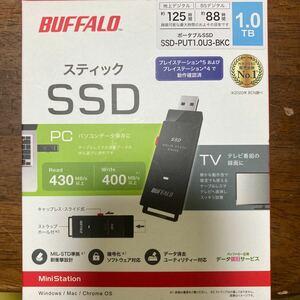 新品未開封 BUFFALO SSD-PUT1.0U3-BKC 1TB ブラック プレイステーション4.5動作確認済 バッファロー