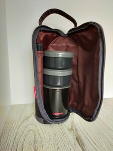 象印 SZ-JB02-BA 保温弁当箱 「お・べ・ん・と」(茶碗1.2杯分) ブラック