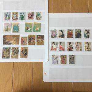 ★〈使用済み切手〉切手趣味週間 30種 1985年~2005年 満月印含む コレクション 使用済み 切手 日本切手 JAPAN 使用済切手  R310