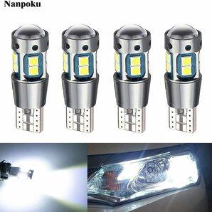 【送料無料】Nanpoku T10 LED ホワイト 爆光 12V 24V ポジションランプ ルームランプ キャンセラー 3030 SMD 10連2.4W 白 車検対応 4個