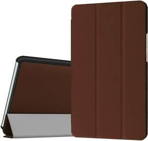 【送料無料】LeTrade レザー 保護ケース カバー docomo dtab Compact d-01J / Huawei MediaPad M3 8.4インチ タブレット ブラウン 茶