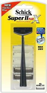 【Free Shipping】 Chic Schick Super II Plus X 2-piece Blade Holder Replacement Blade 2 Cool Bonding Blade (1 co is installed on the body) Shaving Razor Kamisori