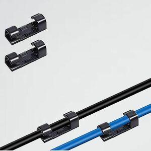 未使用 新品 コ-ドクリップ DAMIGRAM W-MG (黒 20点) ケ-ブルクリップ コ-ド収納 配線止め ケ-ブル固定 クリップセット