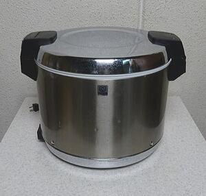 中古 業務用 14年製 タイガー 電気100V 電子ジャー 保温ジャー 5.4L 3升 おひつ JHA-540A ステンレス 作動良好 現状品 傷汚凹有 厨房用品