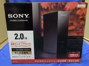 SONY USB3.0 外付けハードディスク 2TB HD-D2/BE 未使用品