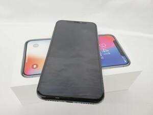 【美品】docomo ドコモ スマートフォン Apple iPhone X 256GB MQC12J/A スペースグレイ 判定○ ※SIMロック解除済 10861550
