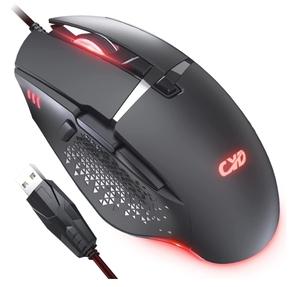 CYD C309 USBマウス LED 呼吸ライト エルゴノミクス Windows 10/8/7/Vista/XP・MacOS・Linux 新品 送料込