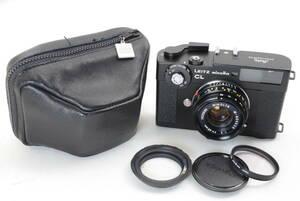 【ecoま】Leitz minolta CL M-ROKKOR 40mm F2 コレクター放出品 レンジファインダー フィルムカメラ