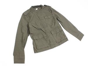 未使用タグ付 H&M エイチアンドエム ミリタリー 隠しボタン モッズ ジャケット 40