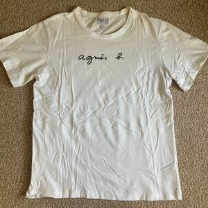 アニエスベー ロゴ Tシャツ 半袖 ホワイト メンズ 2