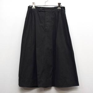 MHL. MARGARET HOWELL マーガレットハウエル コットンリネン スカート SIZE:3(L) ブラック [S105361]