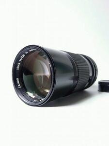 ジャンク品 キャノン CANON カメラレンズ 日本製 FD 200mm F4 1:4 望遠レンズ