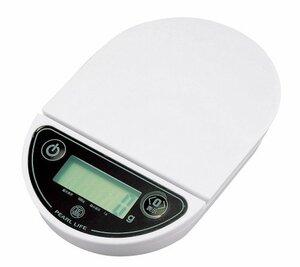 ホワイト パール金属 デジタル キッチン スケール 1kg 用 オーバルミー D-10