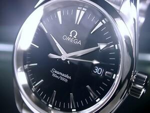本物 OMEGA オメガ シーマスター アクアテラ 2518.50 ブラック 150メーター デイト 稼働品 保証 極美品☆