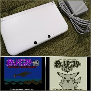 ニンテンドー3DS LL ホワイト 純正充電器 SD カード ポケモン ピカチュウ 銀 DL