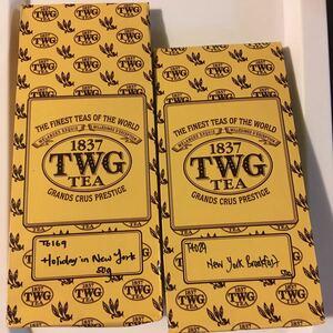 TWG茶葉50g x 2 ホリデーインニューヨーク&ニューヨークブレックファースト