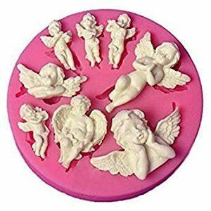 【Ever garden】 天使 8種類 エンジェル シリコンモールド/アロマハイストーン 石膏/手作り 石鹸/レジン/樹脂 粘