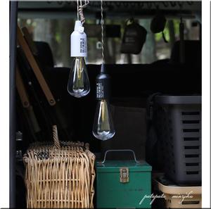 ポストジェネラル ハングランプ タイプワン ブラック ペンダントランプ キャンプ LED 電池式 ライト
