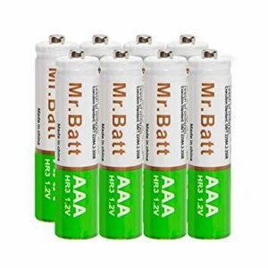 ◇ SH8*単4充電池 Mr.BattER-M4充電池 単4 充電式 ニッケル水素電池 8個パック 自然放電抑制 液漏れ防止 7