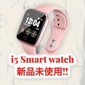 スマートウォッチ i5ピンク スマートブレスレット 高性能 多機能