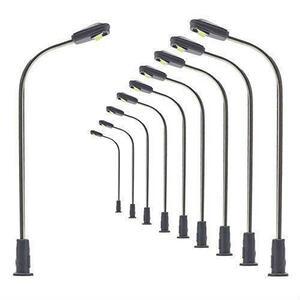 新品 モデル街灯 道路灯 街灯柱 LED ライト温白色 42mm 1:150~1:220 10本入り 鉄道模型 建物K24X