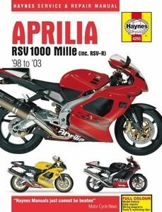 Aprilia アプリリア RSV1000 リペア リペアー 整備書 整備 修理 マニュアル Mille RSV RSV R RSV-R 1000 1998 - 2003 ^在