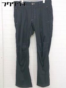 ◇ ◎ le coq sportif ルコック スポルティフ ステッチ 裏起毛 パンツ ゴルフウェア サイズ W 82 ブラック メンズ
