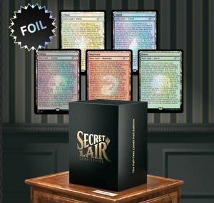 新品・未開封 MTG Secret Lair The Full-Text Lands  FOIL EDITION 限定商品 イラストレス 基本土地マジックザギャザリング