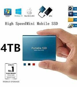 外付けSSD 大容量4TB USB3.0 Type-C《B》