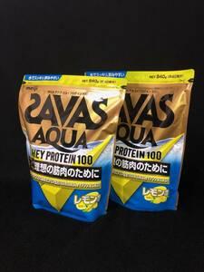 SAVAS【ザバス アクア】ホエイプロテイン100【レモン風味】840g×2袋セット