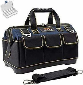 期間限定14-in AIRAJツールバッグ 防水ポータブル道具袋 ?化底工具バッグ 調節可能なショルダーストラップとミニ1K67