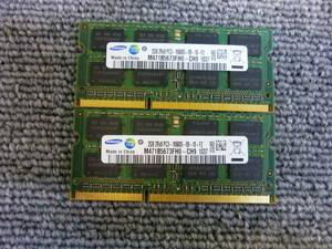 ■[返品返金可] SAMSUNGノート用メモリ基板 PC3-10600S 2GB2枚組 動作未確認 中古品 複数入札可能 クリックポスト発送■