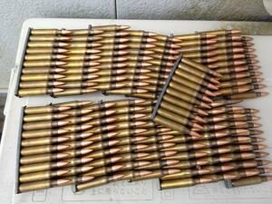 【残り7セット】米軍放出空薬莢使用 5.56mm ダミーカート セット クリップ付き M4 M16 M249